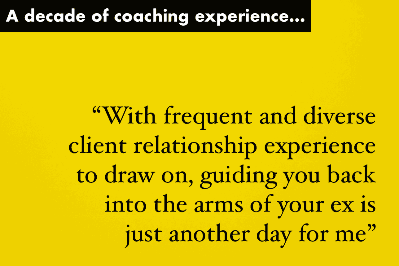 Illustration showing how Michael has more than 10 years experience coaching clients